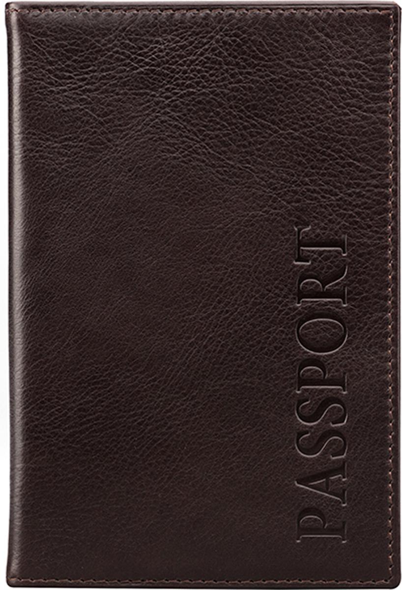 Обложка для паспорта мужская D. Morelli, цвет: коричневый