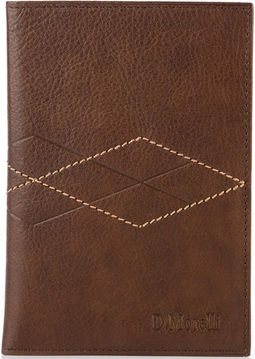 Обложка для паспорта мужская D. Morelli Бонд, цвет: коричневый