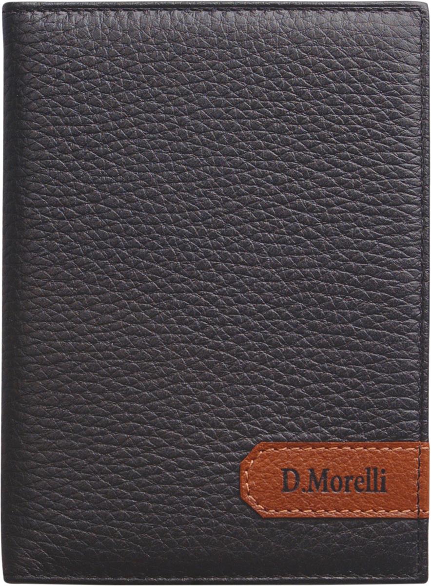 Обложка для паспорта мужская D. Morelli Вестерн, цвет: черный