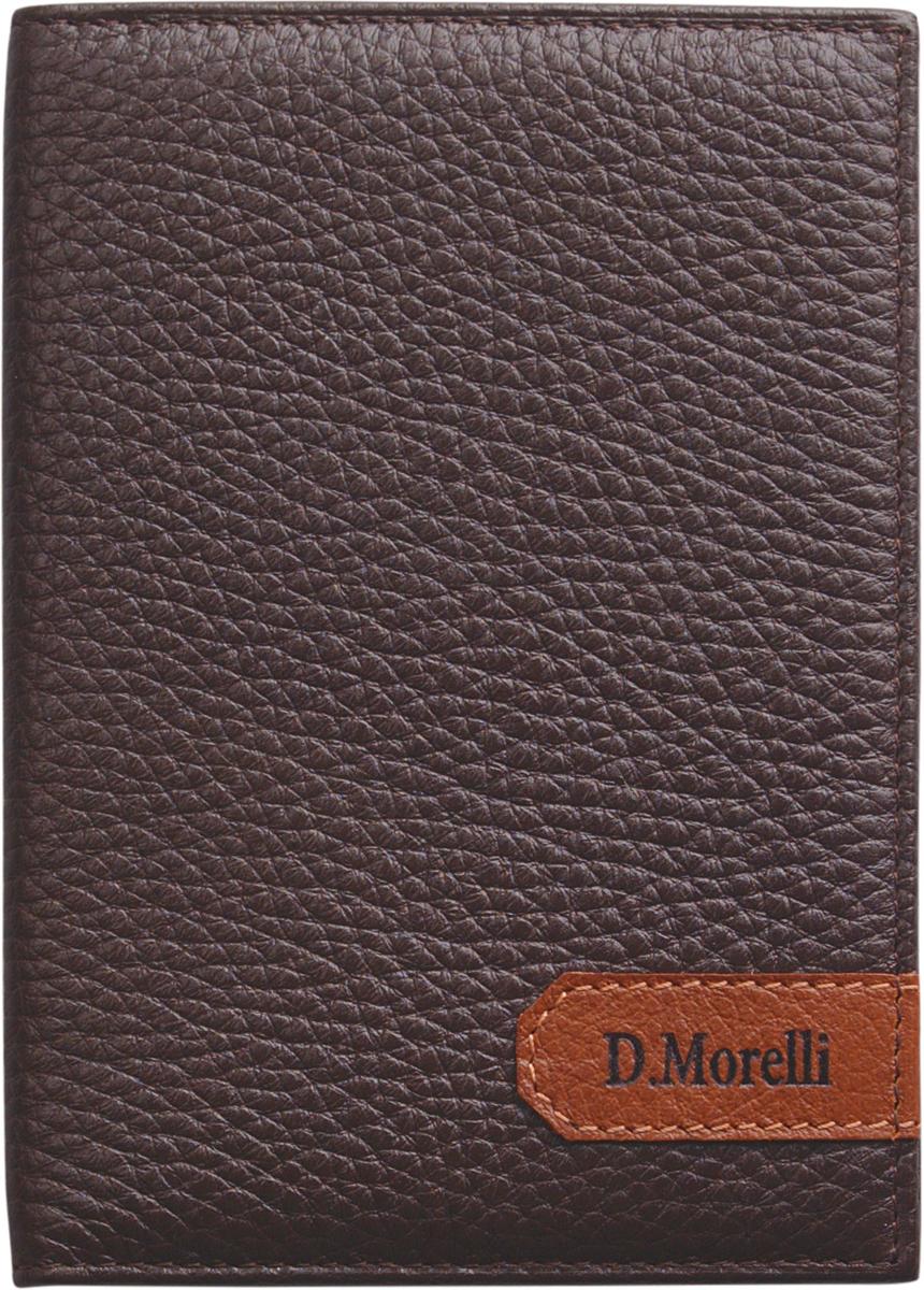 Обложка для паспорта мужская D. Morelli Вестерн, цвет: коричневый