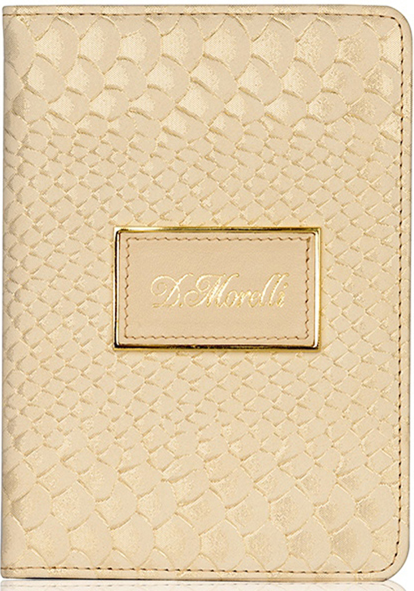 Обложка для паспорта женская D. Morelli Палермо, цвет: бежевый. DM-PS02-PT109 обложка для паспорта женская d morelli lime цвет салатовый