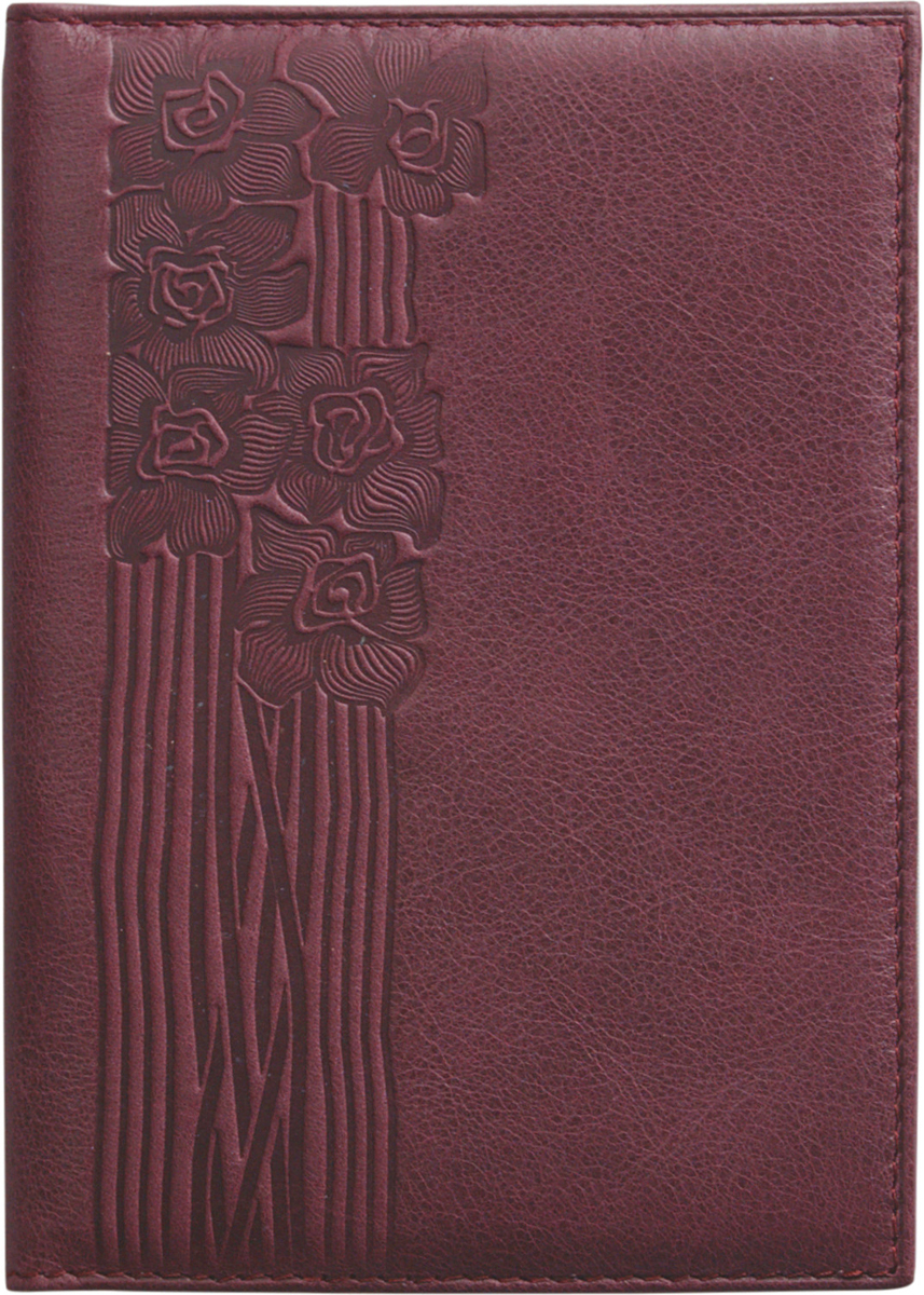 Обложка для паспорта женская D. Morelli Сюита, цвет: бордовый обложка для паспорта женская d morelli lime цвет салатовый