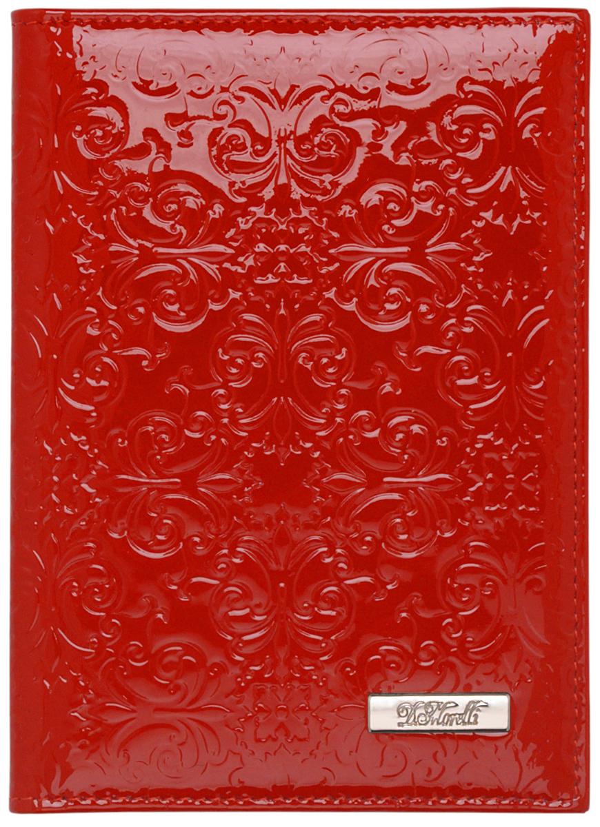 Обложка для паспорта женская D. Morelli Барокко, цвет: красный обложка для паспорта женская d morelli lime цвет салатовый