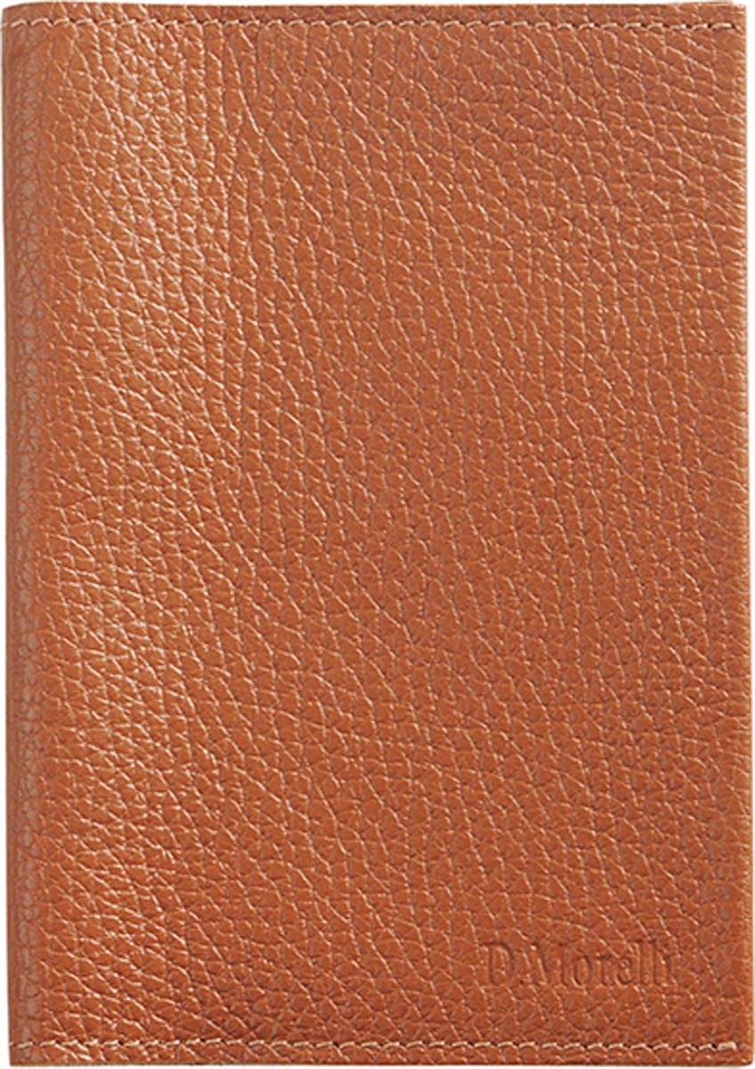 Обложка для паспорта женская D. Morelli Монтана, цвет: рыжий. DM-PS05-F004 обложка для паспорта женская d morelli lime цвет салатовый