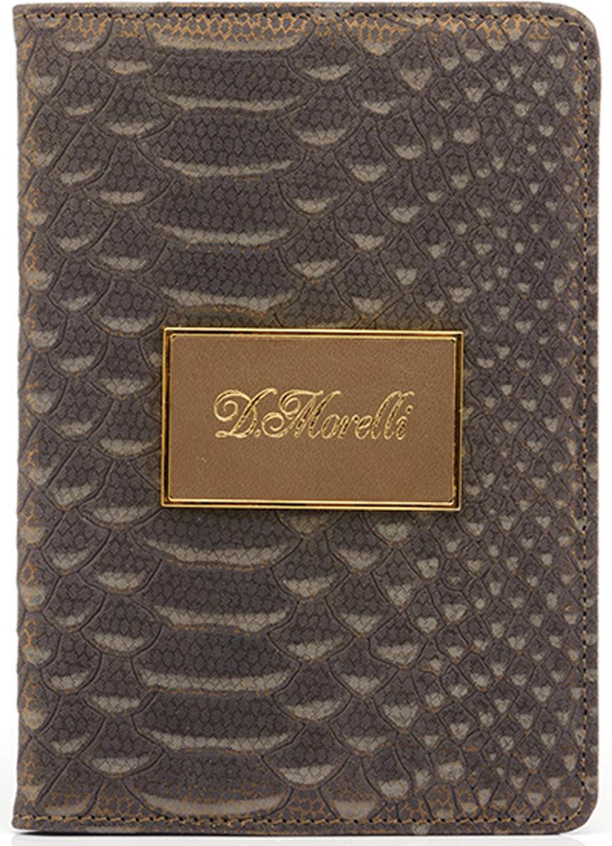 Обложка для паспорта женская D. Morelli Палермо, цвет: бежевый. DM-PS06-K404 обложка для паспорта женская d morelli lime цвет салатовый