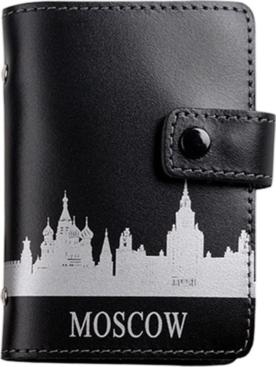 Визитница мужская D. Morelli Moscow, цвет: черный. DM-WZ09-K001-6