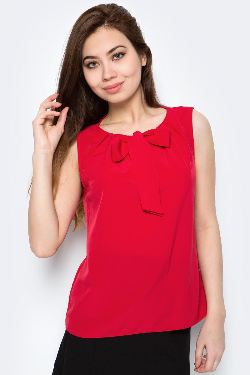 Блузка женская adL, цвет: красный. 11526886006_006. Размер S (42/44)11526886006_006Стильная женская блузка adL, выполненная из полиэстера, подчеркнет ваш уникальный стиль и поможет создать оригинальный образ. Такой материал великолепно пропускает воздух, обеспечивая необходимую вентиляцию, а также обладает высокой гигроскопичностью. Блузка без рукавов и круглым вырезом горловины. Горловина оформлена декоративными завязками. Такая блузка будет дарить вам комфорт в течение всего дня и послужит замечательным дополнением к вашему гардеробу.