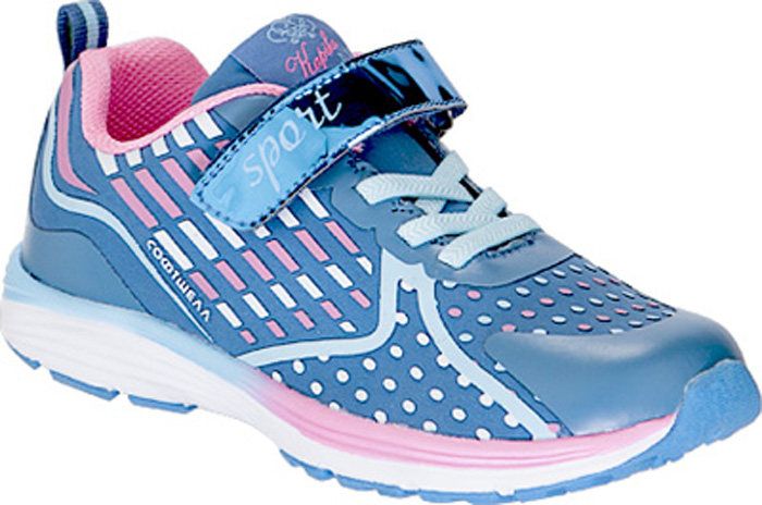 Кроссовки детские Kapika, цвет: синий, розовый. 73345с-1. Размер 3573345с-1Детские кроссовки от Kapika изготовлены из качественной искусственной кожи и текстиля. Ремешки с липучкамии шнуровка обеспечивают надежную фиксацию модели на ноге. Внутренняя поверхность из текстиля комфортна при движении. Рифленая подошва обеспечивает хорошее сцепление с поверхностью.