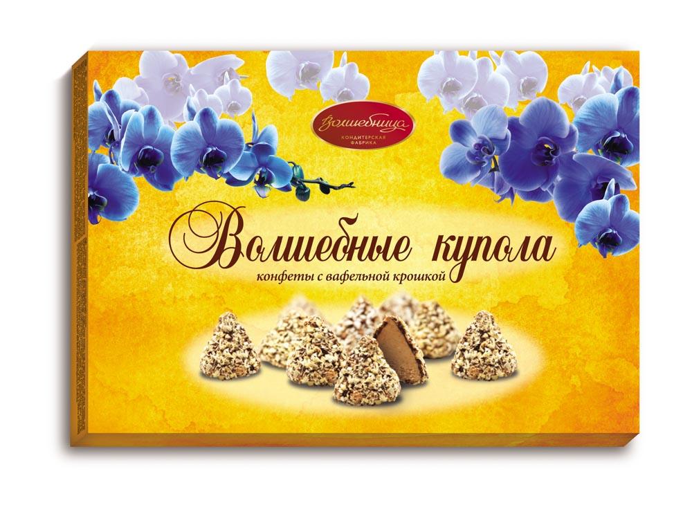 Волшебница С Праздником! Волшебные купола Конфеты с вафельной крошкой, 200 г волшебница трюфельное конфеты шоколадное ассорти 200 г