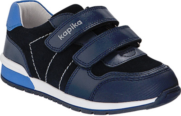 Кроссовки для мальчика Kapika, цвет: синий. 22477-2. Размер 3022477-2Кроссовки от Kapika выполнены из натуральной кожи. Модель на ноге фиксируется при помощи двух ремешков на липучках. Мысок с прорезиненной защитой от стирания и намокания. Подкладка и стелька из натуральной кожи позволяют ногам дышать. Стелька дополнена супинатором, который отвечает за правильное формирование стопы. Жесткий задник хорошо фиксирует голеностоп детской ноги.