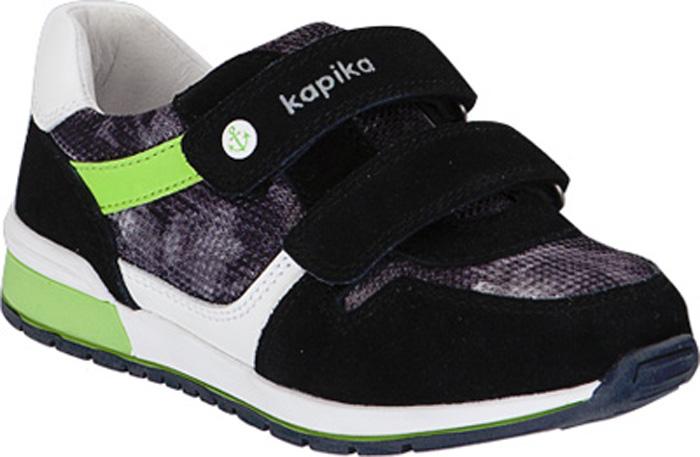 Полуботинки для мальчика Kapika, цвет: черный. 22490-1. Размер 3122490-1Кроссовки от Kapika выполнены из натуральной кожи. Модель на ноге фиксируется при помощи двух ремешков на липучках. Подкладка и стелька из натуральной кожи позволяют ногам дышать. Стелька дополнена супинатором, который отвечает за правильное формирование стопы. Жесткий задник хорошо фиксирует голеностоп детской ноги.