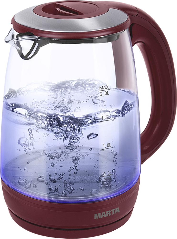 Marta MT-1094, Red Garnet чайник электрический чайник marta mt 3043 шоколад