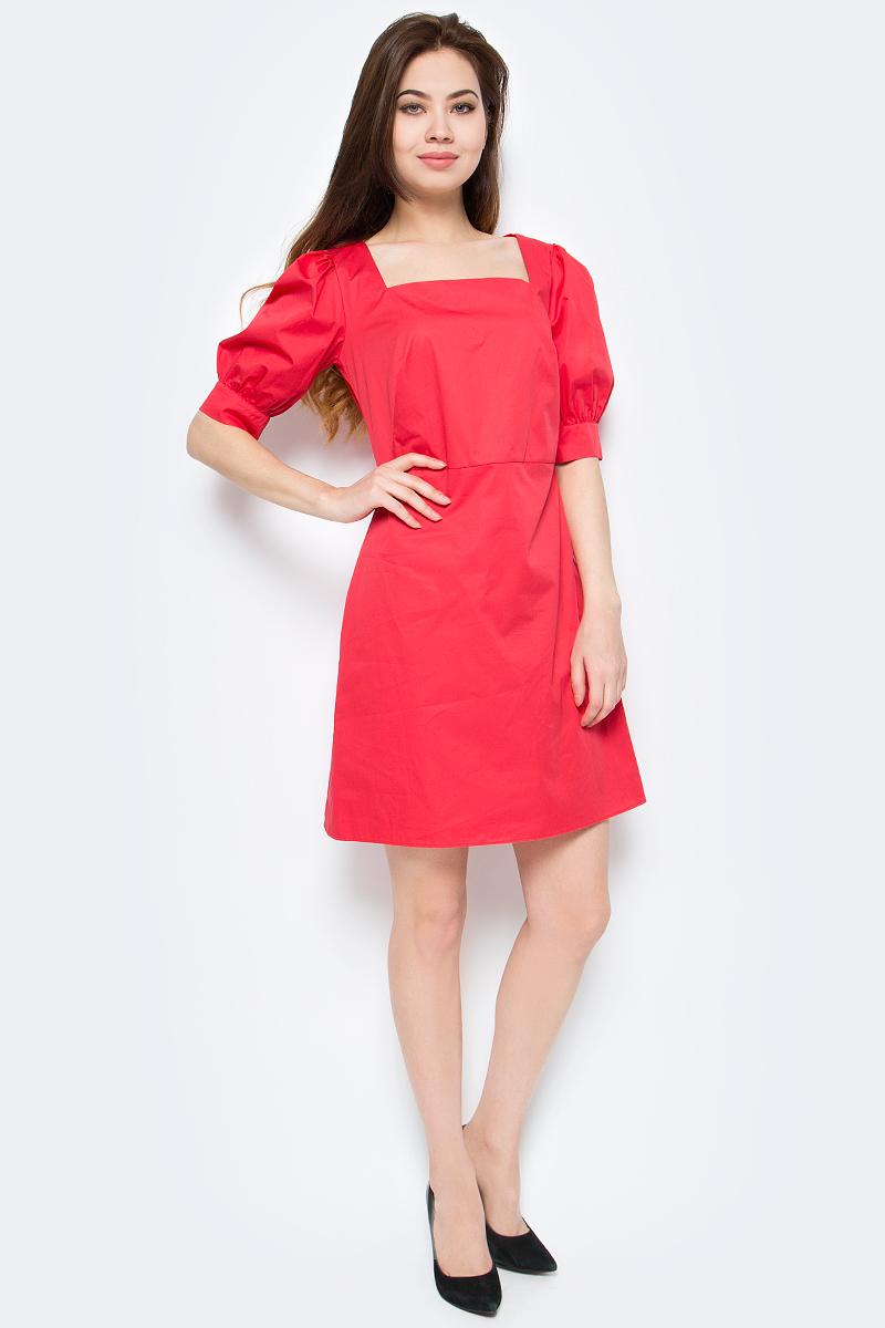 Платье женское adL, цвет: красный. 12433597000_006. Размер XS (40/42) платье футболка женское deha из трикотажного хлопка