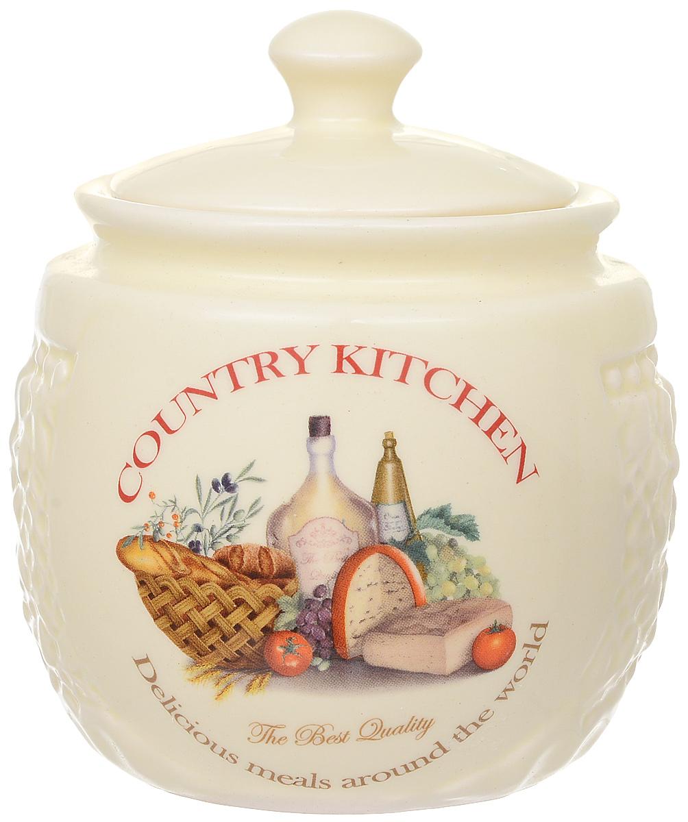 Сахарница Polystar Country Kitchen, цвет: бежевый, 450 мл сахарница polystar collection berny с ложкой 450 мл