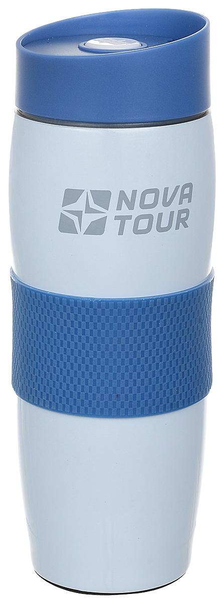 Термокружка Nova Tour Драйвер 360, цвет: голубой, 0,36 л95803-426-00Термокружка Nova Tour Драйвер 360, изготовленная из высококачественной нержавеющей стали, подходит как для холодных, так и для горячих напитков. Прорезиненная накладка не позволяет кружке выскальзывать из рук. Нижняя часть кружки надежно удерживается в подстаканнике автомобиля. Эргономичная форма корпуса и конструкция клапана термокружки Nova Tour Драйвер 360 позволяют с легкостью использовать ее одной левой рукой.