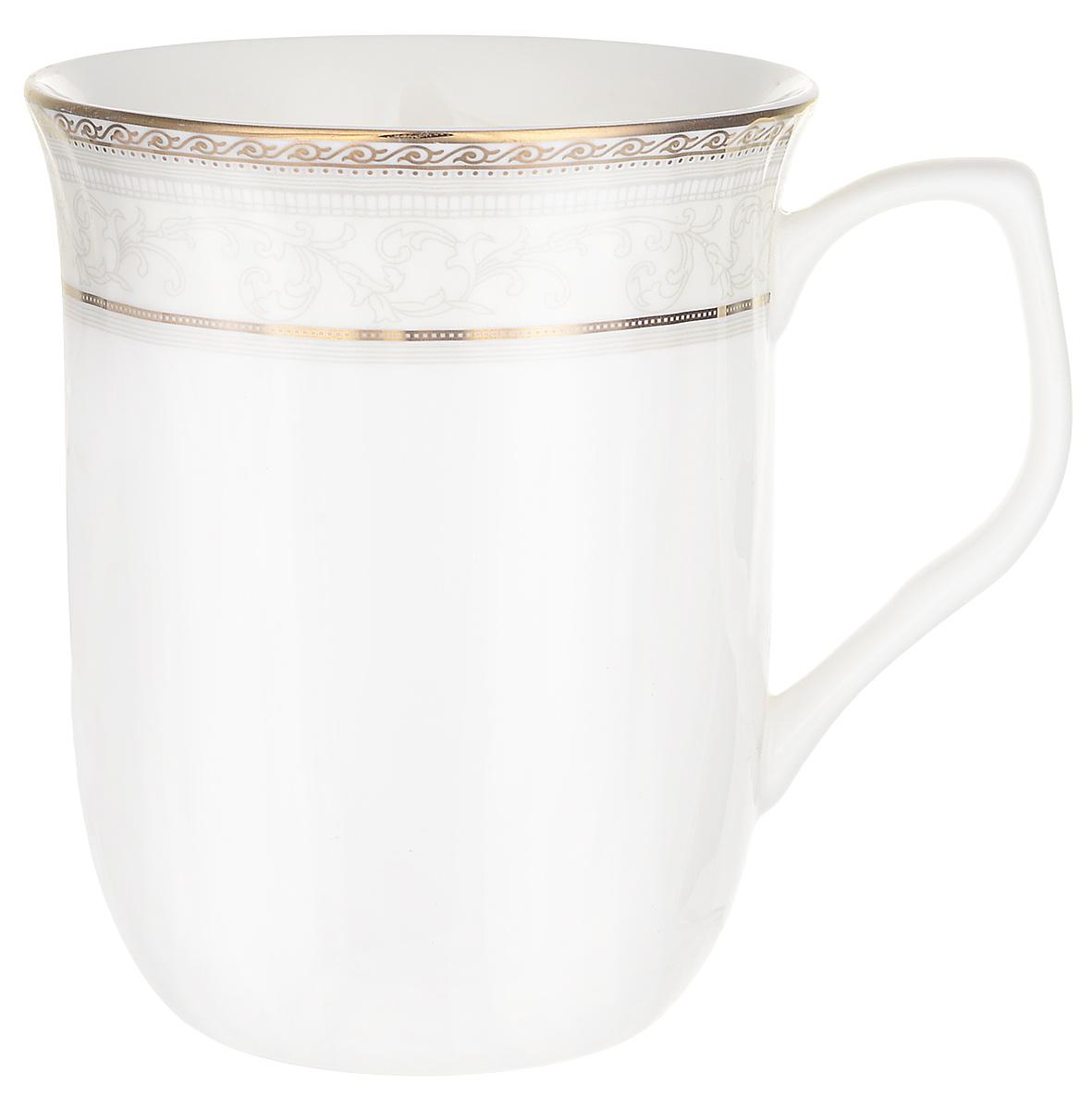 """Пить чай всегда хочется не торопясь и с удовольствием, особенно приятно, когда в руках красивая посуда, которая помогает раскрыть все нотки вкуса настоящего напитка. Любому поднимет настроение и окунет в мир наслаждения стильная кружка """"Элегант""""."""