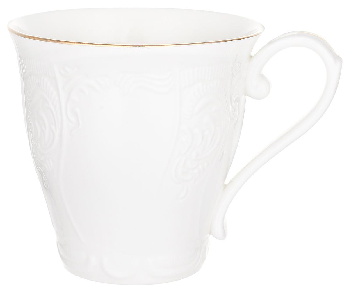 """Пить чай всегда хочется не торопясь и с удовольствием, особенно приятно, когда в руках красивая посуда, которая помогает раскрыть все нотки вкуса настоящего напитка. Любому поднимет настроение и окунет в мир наслаждения стильная кружка """"Maria Gold""""."""