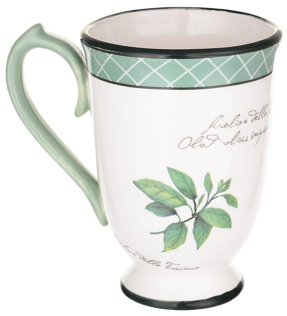 """Пить чай всегда хочется не торопясь и с удовольствием, особенно приятно, когда в руках красивая посуда, которая помогает раскрыть все нотки вкуса настоящего напитка. Любому поднимет настроение и окунет в мир наслаждения стильная кружка """"Италия""""."""
