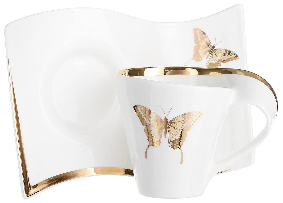 Чайная пара Lenardi Бабочка, 2 предмета108-094Чай будет еще вкуснее, если пить его из изящной фарфоровой чашки, чья красота подчеркнутаблюдцем в том же стиле. Вы можете пользоваться ею дома или на работе, позволяя себе немногорасслабиться и освежить мысли. Чайный набор Бабочки – классический, всегда востребованный и желанный подарок.Насладиться уединением за ароматным напитком – это маленькое счастье, доступное каждому.