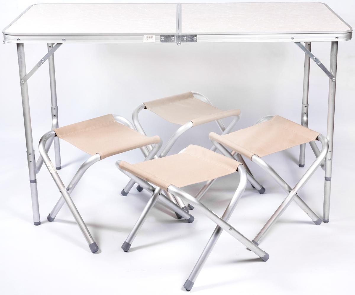 Набор мебели для пикника Green Glade, цвет: бежевый, 5 предметов Р702 набор для пикника green glade twpb 3207a1