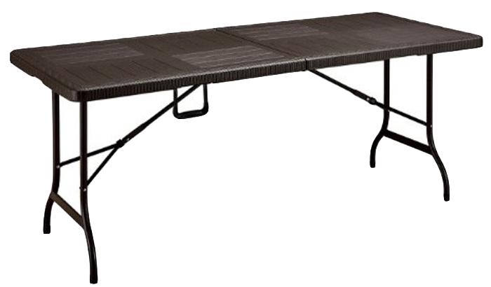 Стол складной Green Glade, цвет: темно-коричневый. F180 стул складной для сада green glade 54х47х89 см