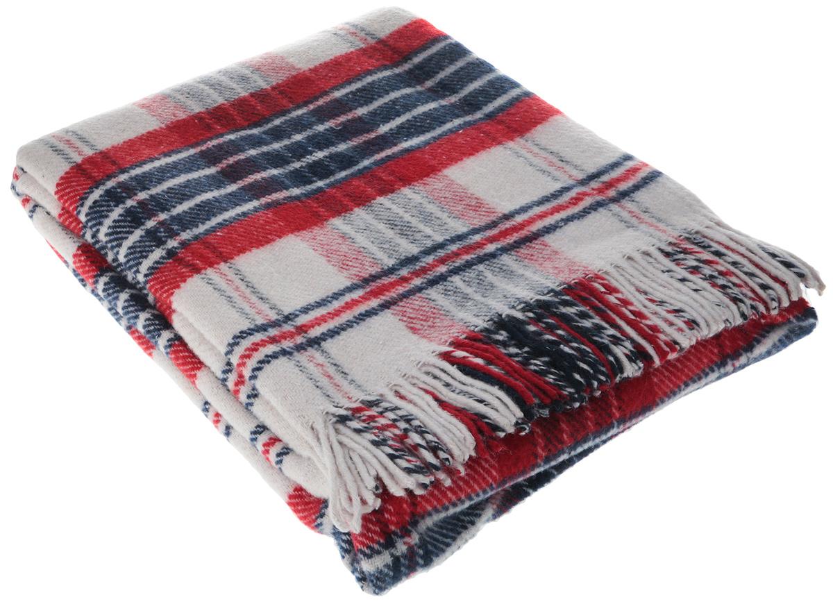 Плед Vladi Метро, цвет: темно-синий, красный, белый, 170 х 210 см пледы sleepy плед