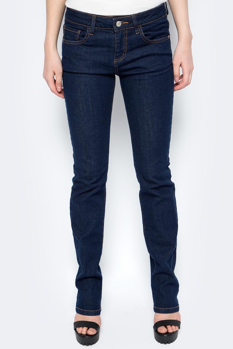 Джинсы женские Sela, цвет: темно-синий. PJ-135/065-8102. Размер 26-32 (42-32)PJ-135/065-8102Стильные джинсы Sela, изготовленные из качественного материала, станут отличным дополнением вашего гардероба. Джинсы стандартной посадки на талии застегиваются на застежку-молнию и пуговицу. На поясе имеются шлевки для ремня. Модель представляет собой классическую пятикарманку: два втачных и маленький прорезной карманы спереди и два накладных кармана сзади.