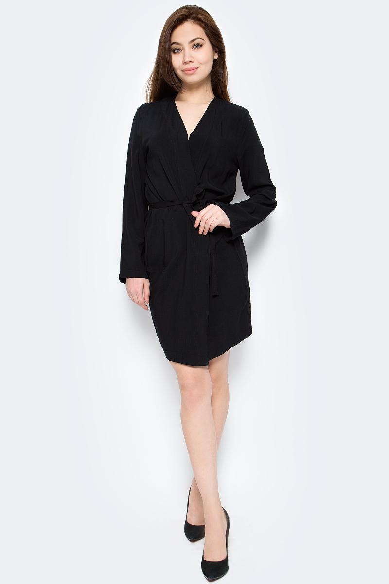 Платье Only, цвет: черный. 15152667. Размер 38 (44) платье only цвет черный 15137616 black размер 38 44