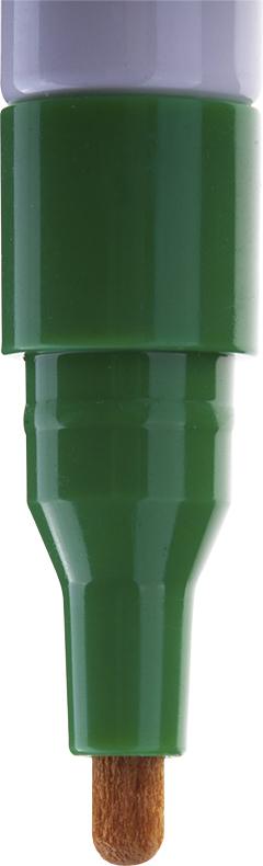 Краска великолепно пишет по любому типу поверхности: бумаге, дереву, пластику, металлу, натуральному и искусственному камню, стеклу. Маркер-краска морозоустойчива, не выгорает на солнце, может писать по горячей (до 130 градусов) или загрязненной, в том числе и маслами, поверхности. Благодаря дозированной подаче краски при помощи клапанного пишущего узла исключаются растекания, неровности линии и преждевременное пересыхание. Богатая цветовая палитра краски на нитро-основе, длительный срок годности - 5 лет.