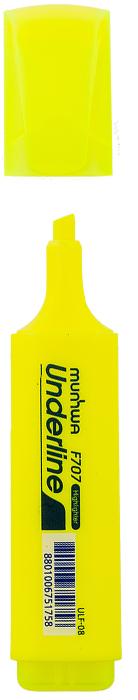 MunHwa Текстовыделитель UnderLine цвет желтый234209Текстовыделитель в прямоугольном корпусе со скругленными углами и полупрозрачным колпачком с клипом. Предназначен для выделения надписей на любой бумажной поверхности. Чернила на водной основе не выгорают и не смазываются.