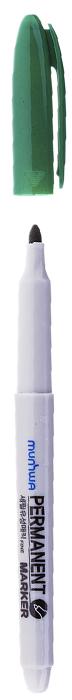 MunHwa Маркер перманентный цвет зеленый235083Перманентный маркер для письма по бумаге, металлу, пластику, керамике, коже и другим поверхностям. Яркий насыщенный цвет чернил. Время высыхания 30-40 секунд. Рабочая температура от -15 до 50 градусов/