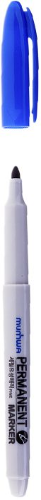 MunHwa Маркер перманентный цвет синий235085Перманентный маркер для письма по бумаге, металлу, пластику, керамике, коже и другим поверхностям. Яркий насыщенный цвет чернил. Время высыхания 30-40 секунд. Рабочая температура от -15 до 50 градусов.