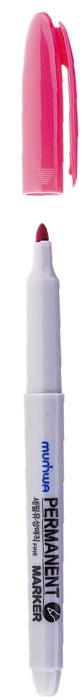 MunHwa Маркер перманентный цвет розовый235089Перманентный маркер для письма по бумаге, металлу, пластику, керамике, коже и другим поверхностям. Яркий насыщенный цвет чернил. Время высыхания 30-40 секунд. Рабочая температура от -15 до 50 градусов.