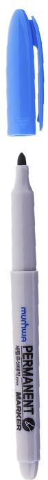 MunHwa Маркер перманентный цвет голубой235090Перманентный маркер для письма по бумаге, металлу, пластику, керамике, коже и другим поверхностям. Яркий насыщенный цвет чернил. Время высыхания 30-40 секунд. Рабочая температура от -15 до 50 градусов/