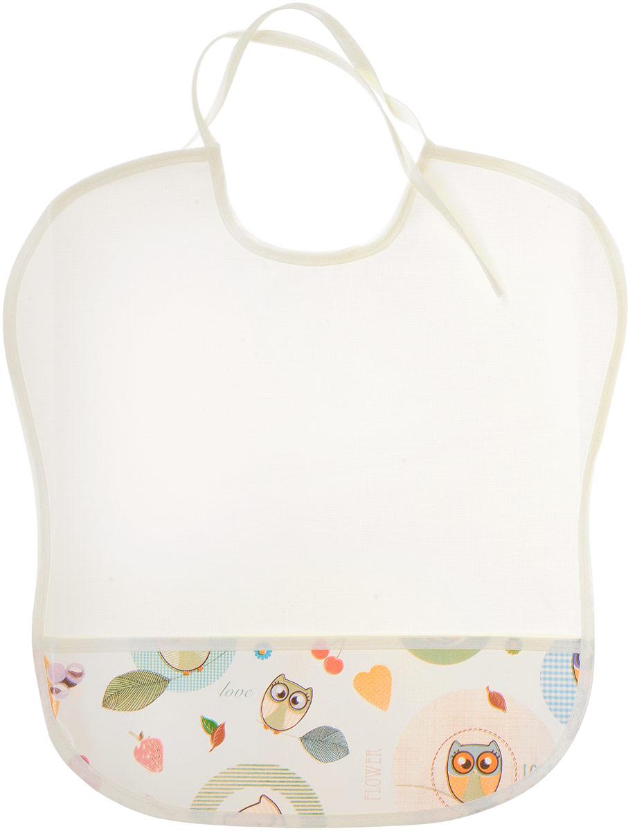 Фото Колорит Нагрудник с карманом Совы цвет белый 33 х 33 см