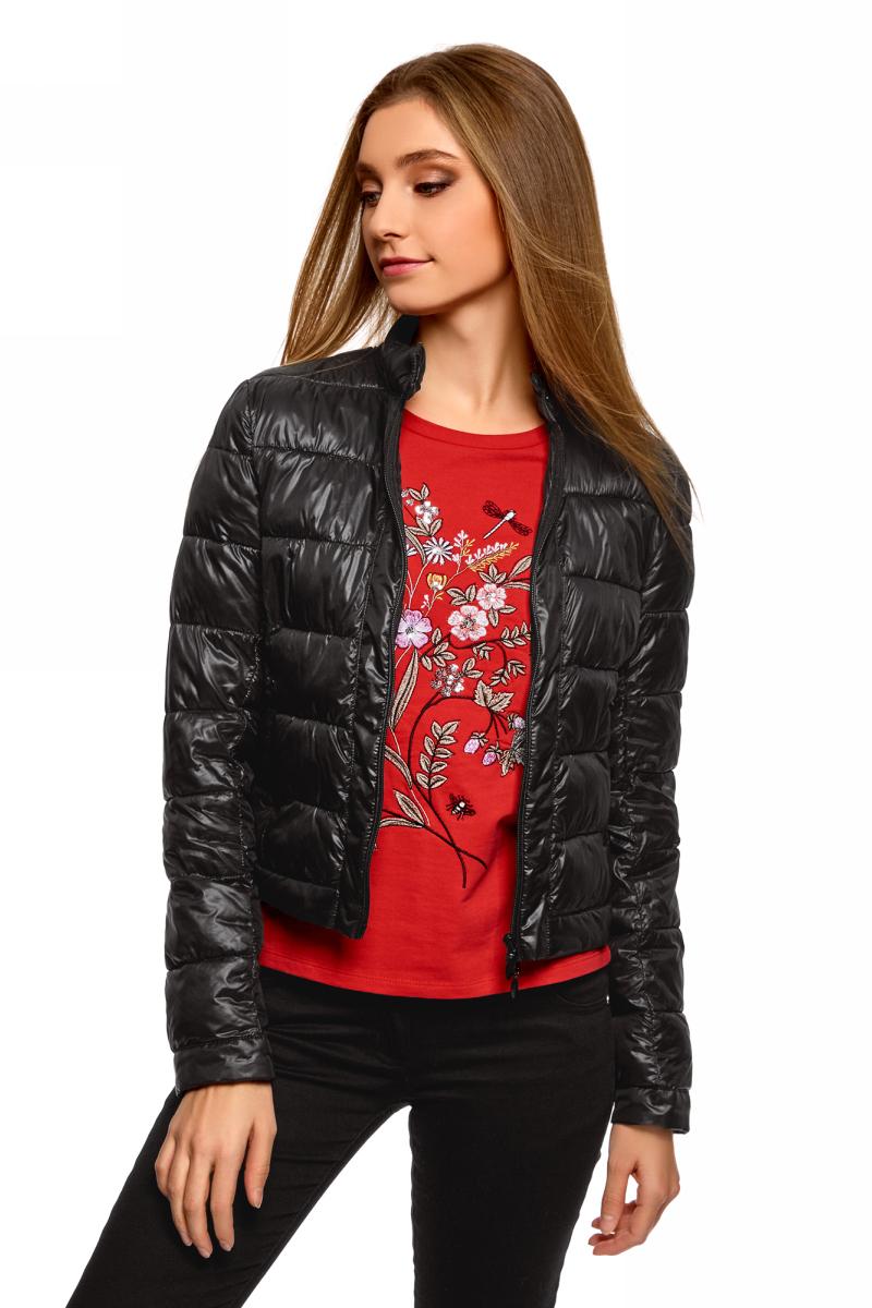 Купить Куртка женская oodji Ultra, цвет: черный. 10203038-5B/33445/2900N. Размер 40 (46-170)