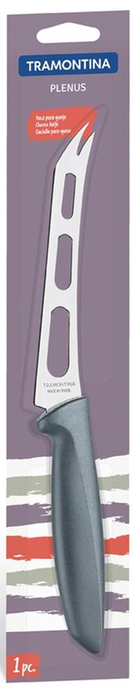 """Нож для сыра Tramontina """"Plenus"""", цвет: серый, длина лезвия 12,5 см"""