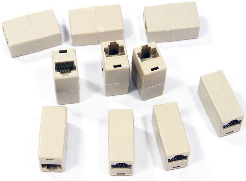 VCOM VTE7713, Beige модуль RJ-45-RJ-45, 10 штVTE7713-1/10Модуль VCOM VTE7713 применяется для соединения 2 обжатых кабелей с коннекторами RJ-45 с целью удлинения. Выполнен из пластика.