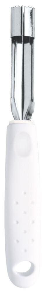 Серия кухонных аксессуаров Utilita подходит для любителей современного дизайна и ярких красочных цветов.Рабочая часть изготовлена из нержавеющая стали AISI 420, благодаря уникальному методу закалки в несколько этапов (термическая закалка, охлаждение, промораживание, нагревание газом) сталь приобретает особую пластичность, корозийно и жаростойкость, сохраняя твердость порядка 53 единиц по шкале Роквелла.Благодаря толстой стали и надёжному креплению к рукоятке нож прослужит долгие годы.Материал лезвия: нержавеющая сталь AISI 420Материал рукоятки: полипропиленДлина лезвия: 7,5 смПетля для подвешивания: даМожно мыть в посудомоечной машине: даСтрана производства: Бразилия