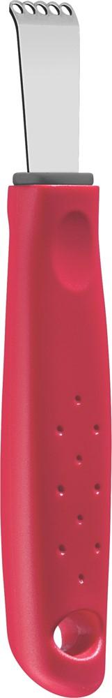 Серия кухонных аксессуаров Utilita подходит для любителей современного дизайна и ярких красочных цветов.Рабочая часть изготовлена из нержавеющая стали AISI 420, благодаря уникальному методу закалки в несколько этапов (термическая закалка, охлаждение, промораживание, нагревание газом) сталь приобретает особую пластичность, корозийно и жаростойкость, сохраняя твердость порядка 53 единиц по шкале Роквелла.Благодаря толстой стали и надёжному креплению к рукоятке нож прослужит долгие годы.Материал лезвия: нержавеющая сталь AISI 420Материал рукоятки: полипропиленПетля для подвешивания: даМожно мыть в посудомоечной машине: даСтрана производства: Бразилия