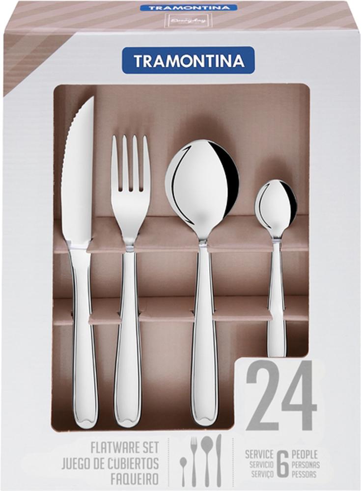Набор столовых приборов Tramontina Copacabana, 24 предмета набор столовых ножей tramontina laguna 3 шт
