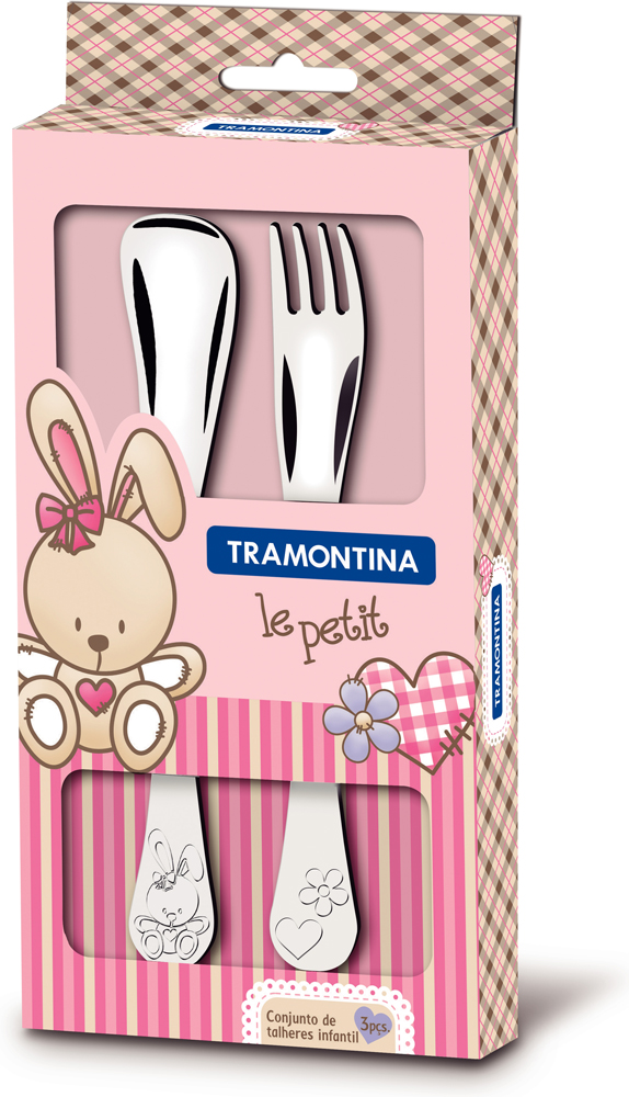 Набор детских столовых приборов Tramontina Le petit, для девочки, 2 предмета набор для специй queen ruby цвет красный 2 предмета qr 8794
