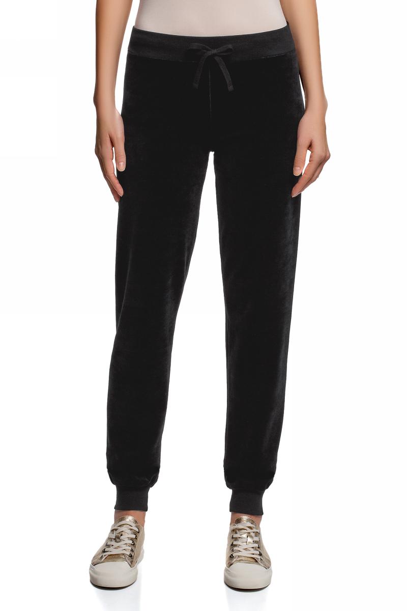 Брюки женские oodji Ultra, цвет: черный. 16701051-1/47883/2910P. Размер M (46) женские брюки 2015 ol