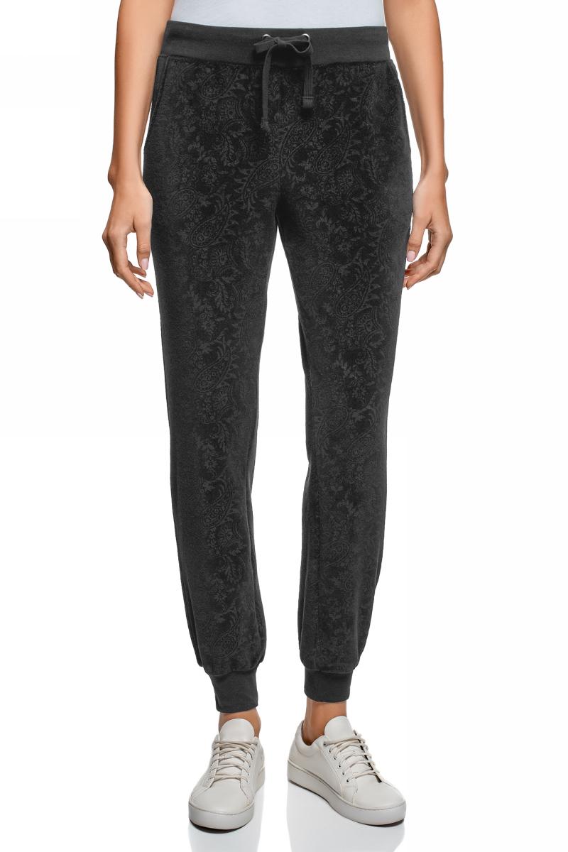 Брюки женские oodji Ultra, цвет: черный. 16701052/47883/2929E. Размер XL (50) женские брюки pants 2015 zd44500