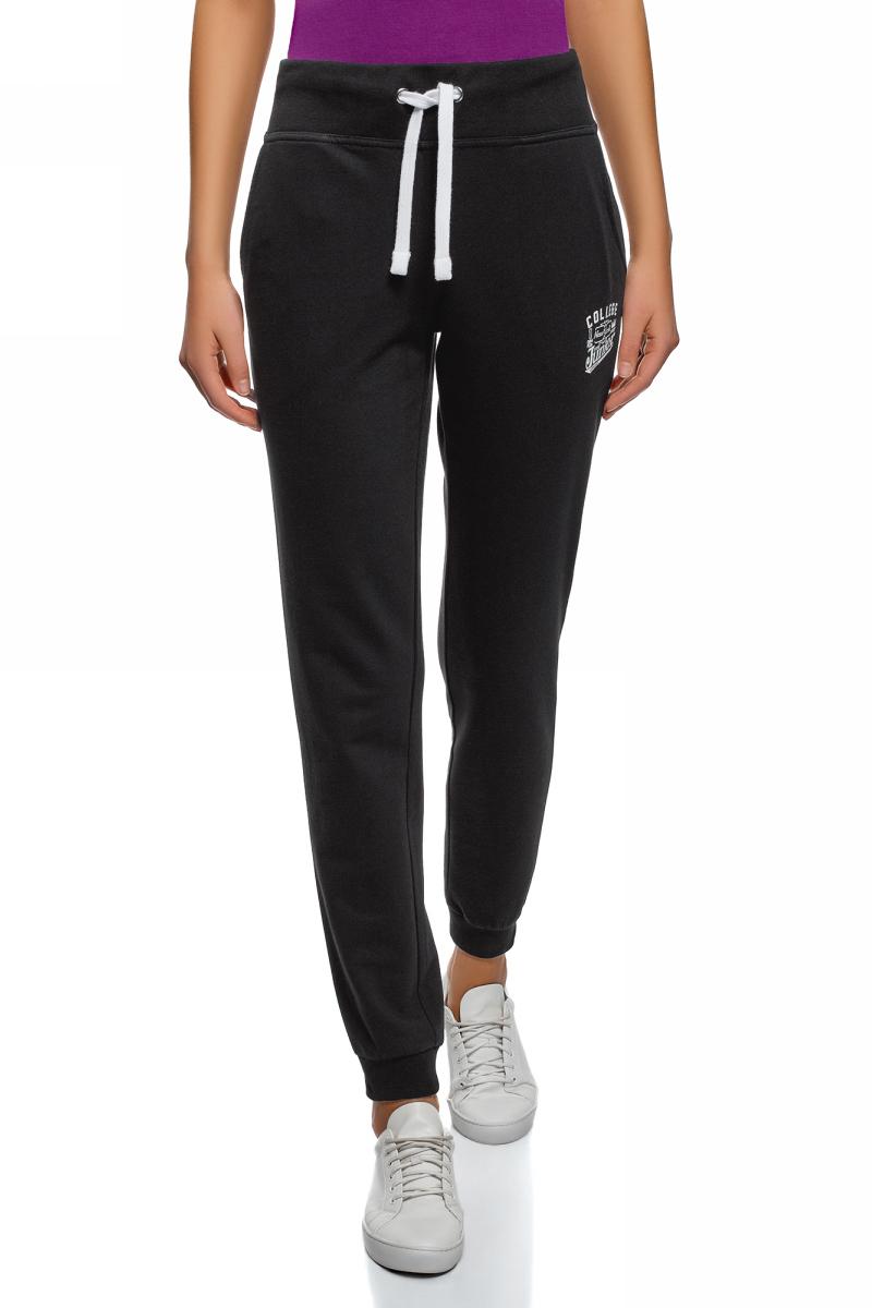 Брюки женские oodji Ultra, цвет: черный. 16700030-19/46173/2900P. Размер XXS (40) женские брюки 2015 ol
