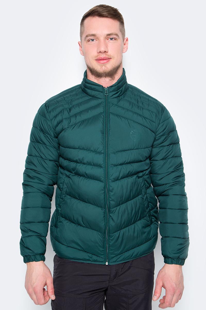 Куртка мужская Jack & Jones, цвет: зеленый. 12130635. Размер M (48)12130635Утепленная куртка от Jack & Jones выполнена из высококачественного полиэстера. Модель с длинными рукавами и воротником-стойкой застегивается на молнию, по бокам дополнена втачными карманами. Манжеты рукавов обработаны эластичными резинками.