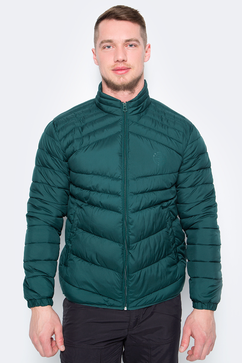 Куртка мужская Jack & Jones, цвет: зеленый. 12130635. Размер L (50)