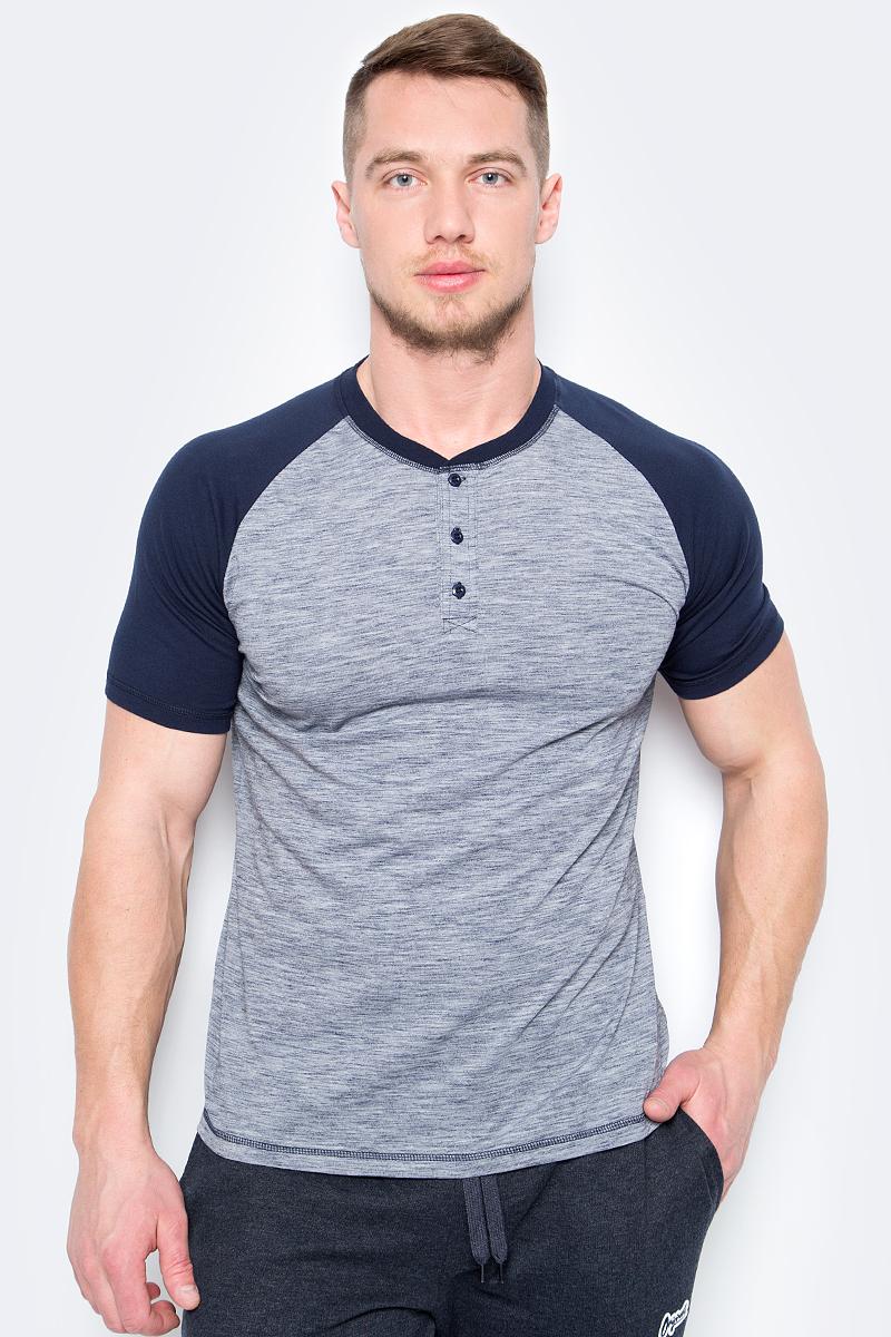 Футболка мужская Sela, цвет: серый. Ts-211/1157-8162. Размер XS (44) цена