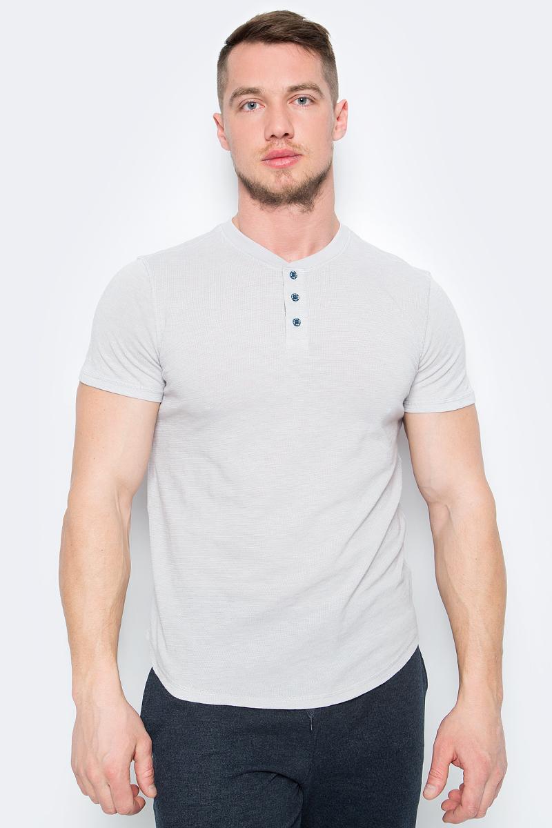 Футболка мужская Sela, цвет: серый. Ts-211/1150-8121. Размер XXL (54) цена