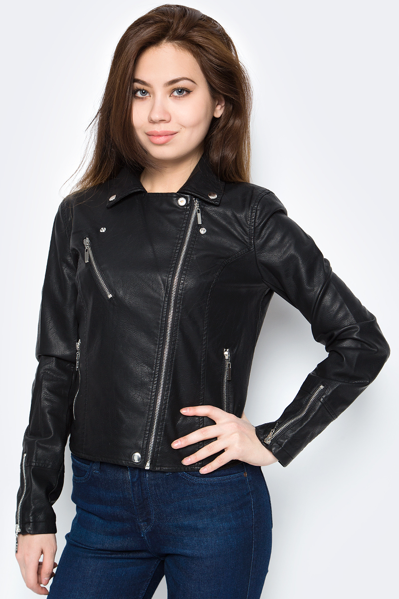 Куртка женская Sela, цвет: черный. Cpu-126/1043-8162. Размер XL (50)Cpu-126/1043-8162